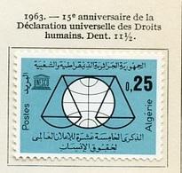 Algérie - Algerien - Algeria 1963 Y&T N°384 - Michel N°413 * - 25c Droits De L'homme - Algeria (1962-...)