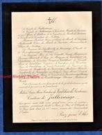 Document Ancien De 1911 - PARIS 7 Rue D'Obligado - Louise Marie Caroline De VAULCHIER Du DESCHAUX Comtesse De JALLERANGE - Historical Documents