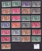 British Empire 1937 Small Accumulation Of 25 Coronation Values - Great Britain (former Colonies & Protectorates)