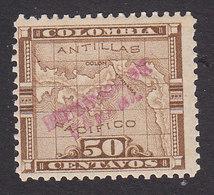 Panama, Scott #107?, Mint Hinged, Map Overprinted, Issued 1903 - Panama