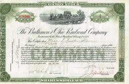 Titre Ancien - The Baltimore And Ohio Railroad Company -Titre De 1914 - - Railway & Tramway