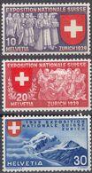 HELVETIA - SUISSE - SVIZZERA - 1939 - Lotto Di 3 Valori Nuovi MH: Yvert 320/322. - Nuovi