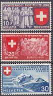 HELVETIA - SUISSE - SVIZZERA - 1939 - Lotto Di 3 Valori Nuovi MH: Yvert 326/328. - Svizzera