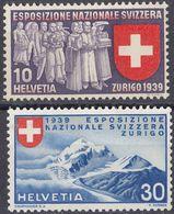 HELVETIA - SUISSE - SVIZZERA - 1939 - Lotto Di 2 Valori Nuovi MH: Yvert 323 E 325. - Svizzera