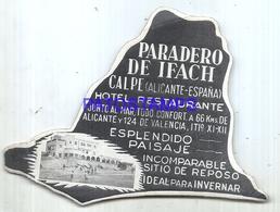 114034 SPAIN ESPAÑA ALICANTE PUBLICITY PARADERO DE IFACH CALPE RESTAURANTE LUGGAGE NO  POSTCARD - Hotel Labels