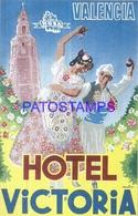 114036 SPAIN ESPAÑA VALENCIA PUBLICITY HOTEL VICTORIA LUGGAGE NO POSTCARD - Hotel Labels