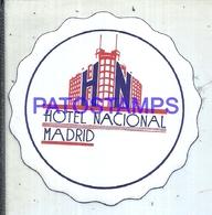 114038 SPAIN ESPAÑA MADRID PUBLICITY HOTEL NACIONAL LUGGAGE NO POSTCARD - Hotel Labels