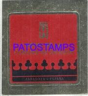 114040 SPAIN ESPAÑA ZARAGOZA PUBLICITY HOTEL DE LA CORONA DE ARAGON LUGGAGE NO POSTCARD - Hotel Labels