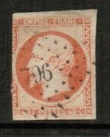 FRANCE  Scott # 18 F USED (Stamp Scan # 514) - 1853-1860 Napoleon III
