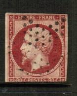 FRANCE  Scott # 20 F USED (Stamp Scan # 514) - 1853-1860 Napoleon III
