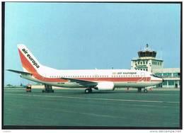 AIR EUROPA Plane Boeing 737 -300 At MALLORCA Spain AIRPORT Issue Postcard (2 Scans) - 1946-....: Era Moderna