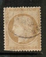 FRANCE  Scott # 56 F-VF USED BLUNT PERFS BOTTOM LEFT  (Stamp Scan # 514) - 1871-1875 Ceres