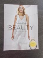 Publicité Papier Parfum - Perfume Ad : Calvin KLEIN Beauty France 2010 - Advertising