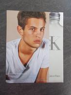 Publicité Papier Parfum - Perfume Ad : Calvin KLEIN Ckone France 2000 - Advertising