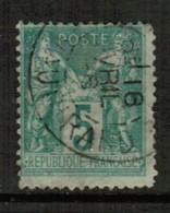 FRANCE  Scott # 104 F-VF USED  (Stamp Scan # 514) - 1876-1898 Sage (Type II)
