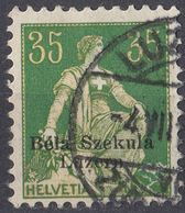 HELVETIA - SUISSE - SVIZZERA - 1908 - Yvert 122 Usato Con Sovrastampa Bela Szekula Luzern. - Svizzera