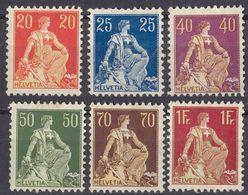 HELVETIA - SUISSE - SVIZZERA - 1907/1917 - Lotto Di 6 Valori Nuovi Senza Gomma: Yvert 119, 120 E 123/126. - Svizzera
