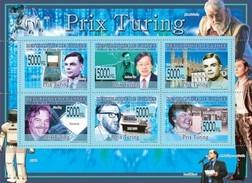 GUINEA 2008 SHEET PRIX TURING AWARDS ALAN TURING ANDREW YAO ENIGMA ALAN KAY PETER NAUR FRANCES ALLEN Gu0878 - Guinea (1958-...)