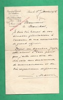 Militaria Lettre Autographe Signée Du General Louis Maurin Artillerie Adressée Au Marechal Lyautey Datée De 1928 - Autographs