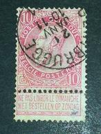 COB N ° 58 Oblitération Gentbrugge - 1893-1900 Fine Barbe