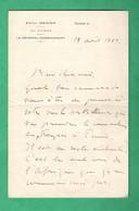 Militaria Lettre Autographe Signée Du General  Aldebert De Chambrun Adressée Au Marechal Lyauteydatée De 1929 - Autographs