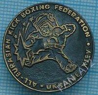 UKRAINE / Badge / Boxing. Kickboxing. Martial Arts. All European Federation Kiev Brown Bear. 1990s - Lutte