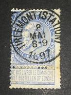 COB N ° 60 Oblitération Tirlemont (Station) 1897 - 1893-1900 Fine Barbe