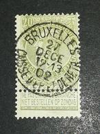 COB N ° 59 Oblitération Bruxelles Caisse D'épargne Et De Retraite 02 - 1893-1900 Fine Barbe