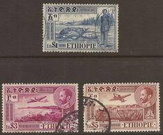 ETHIOPIA. 1947. AIR MAIL. E$1 E$3 & E$5. USED - Ethiopia