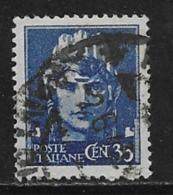 """Italy Scott # 442 Used """"Italia"""", 1945 - 5. 1944-46 Lieutenance & Umberto II"""