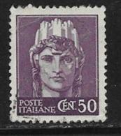 """Italy Scott # 449 Used """"Italia"""", 1945 - 5. 1944-46 Lieutenance & Umberto II"""