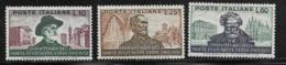Italy Scott # 594-6 MNH Verde, 1951, CV$50.00 - 1946-60: Mint/hinged