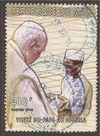 AFRICA / MALI. 1999. 310F POPE'S VISIT. BLUE CANCEL. - Mali (1959-...)
