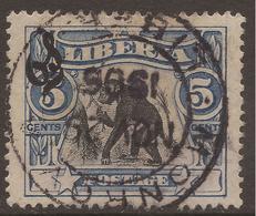 LIBERIA. POSTMARK. MONROVIA. 5c OFFICIAL. - Liberia