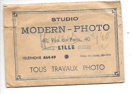 59 LILLE POCHETTE PHOTO STUDIO MODERN PHOTO 40 RUE DE PARIS .....PAS COURANT - Other