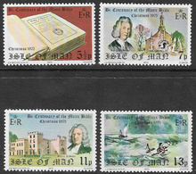 Isle Of Man SG71-74 1975 Christmas And Manx Bible Set 4v Complete Unmounted Mint [40/32403/25D] - Isle Of Man