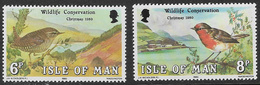 Isle Of Man SG181-182 1980 Christmas And Wildlife Conservation Year Set 2v Complete Unmounted Mint [40/32404/25D] - Isle Of Man