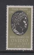 Italy Republic S 809 1957 Birth Bimelenary Of Ovidio,mint Never  Hinged - 1946-60: Mint/hinged