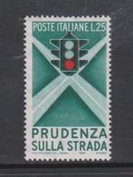 Italy Republic S 815 1957 Propaganda Road Traffic,mint Never  Hinged - 6. 1946-.. Repubblica