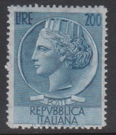 Italy Republic S 816 1957 Coin 200 Lire,mint Never Hinged - 6. 1946-.. Republik