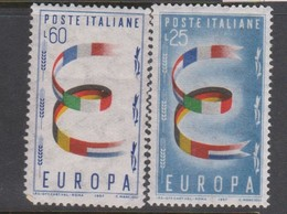 Italy Republic S 817-818 1957 Europa,mint Never  Hinged - 1946-60: Mint/hinged