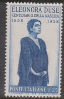 Italy Republic S 848 1958 Eleonora Duse,mint Never  Hinged - 1946-60: Mint/hinged