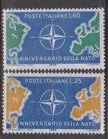 Italy Republic S 854-855 1959 TenthAnniversary NATO,mint Never  Hinged - 6. 1946-.. Repubblica