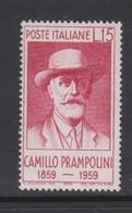 Italy Republic S 860 1959 Birth Centenary Of Camillo Prampolini,mint Never  Hinged - 1946-60: Mint/hinged