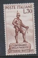 Italy Republic S 894 1960 Centenary Birth Ov Vittorio Bottego,mint Never  Hinged - 6. 1946-.. Repubblica