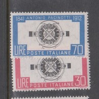 Italy Republic S 938-939 1962 50th Anniversary Death Of Pacinotti,mint Never  Hinged - 1961-70: Mint/hinged