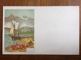 (74, PLM) HANCONVILLE: Baie D'Evian-les-bains. Affiche PLM. Carte Neuve 1900. Dos Non Divisé. - Evian-les-Bains