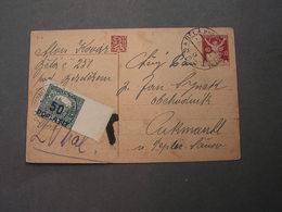 Bela Nach Teplice Mit Portmarke 1920 - Portomarken