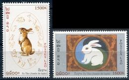 Laos 1999  YT 1345-46 ; Mi# 1657-58 **  MNH  Chinese New Year: Year Of The Rabbit - Laos
