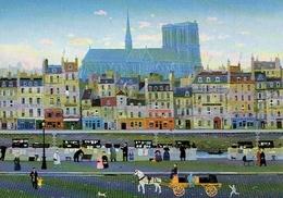 Michel DELACROIX : Quai De La Seine - Peintures & Tableaux